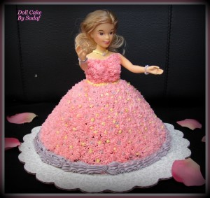 Princess Doll Cake using Wilton Wonder Mold Cake pan