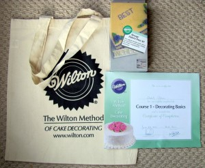 Wilton Cake Decorating Classes Certificate