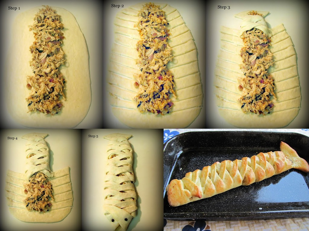 Step by step pics for Chicken Bread recipe