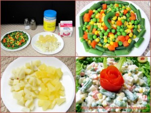 Ingredients for Russian Salad recipe