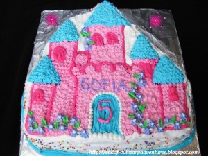 Enchanted Castle Cake made using Wilton Enchanted Castle Cake Pan