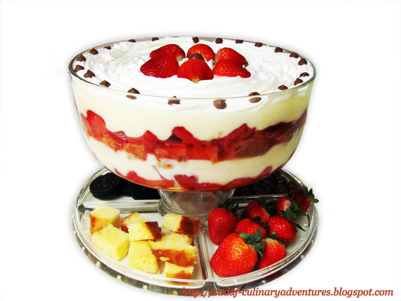 Quick and Easy Strawberry Trifle recipe