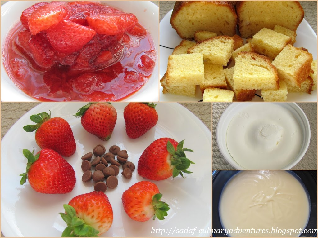 Ingredients for Strawberry Trifle