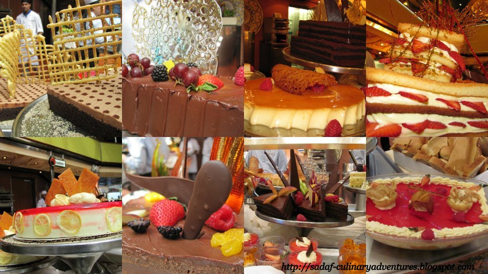Desserts in the Carnival Triumph buffet