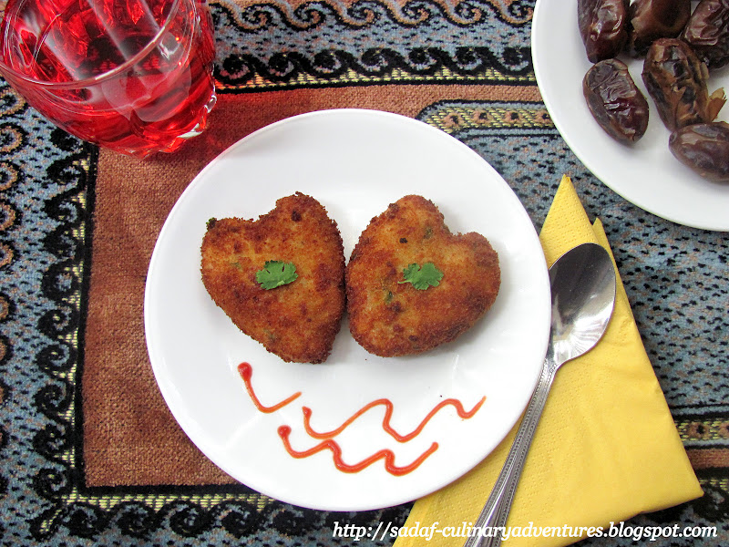 Aloo Qeema ( Potato and meat ) cutlets recipe for Ramadan Iftar snack