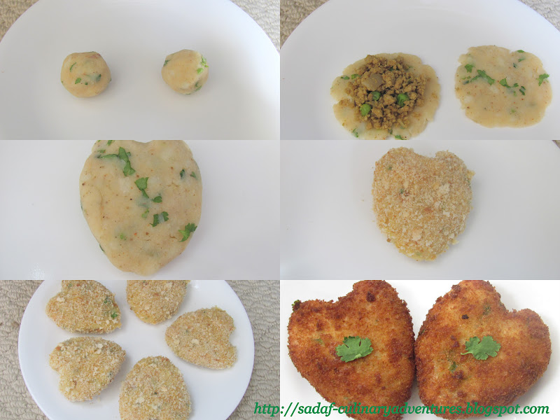 Step by step Aloo Qeema ( Potato and meat ) cutlets recipe for Ramadan Iftar snack