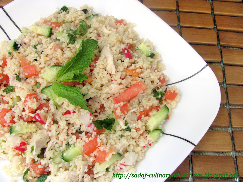 Chicken Couscous Salad Low Carb Meal recipe
