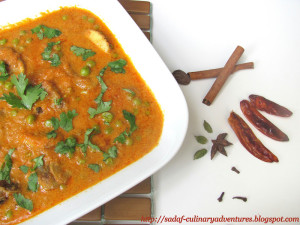 Mushroom Matar Mushroom and peas curry