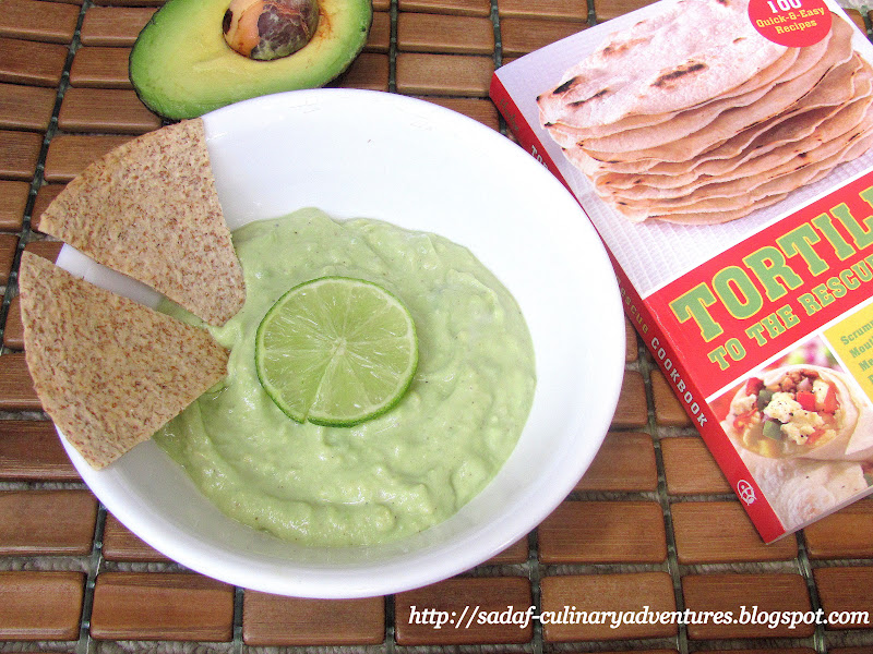 Tortilla Chips with Avocado Yogurt Dip