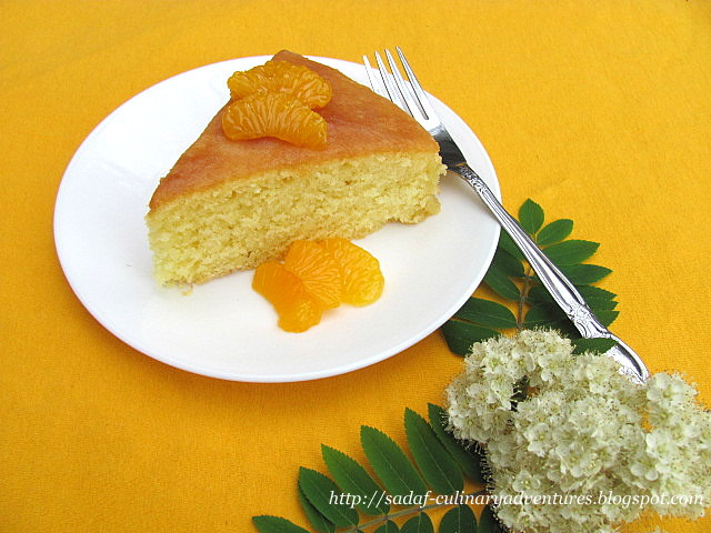 Glazed Orange Cake with orange juice