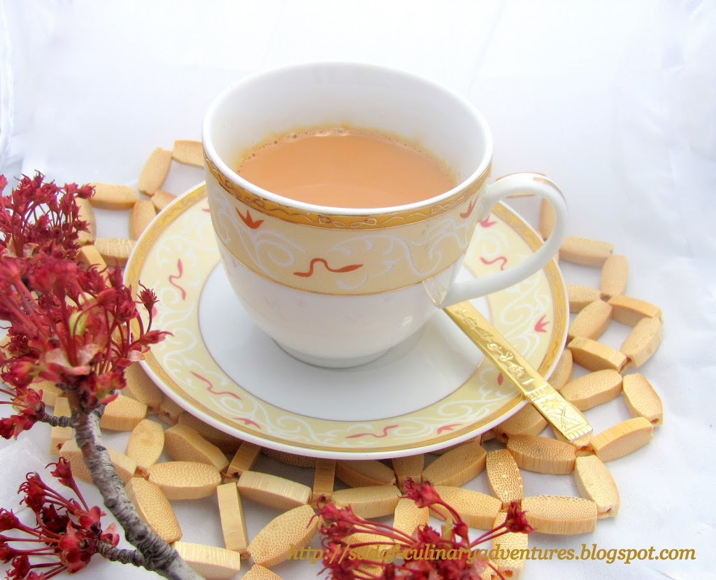 Masala Chai Indian Tea recipe with Ginger Cardamom Cloves Cinnamon