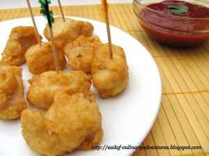 Thai Chicken appetizer pops