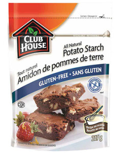 Gluten-free McCormick Club House potato starch baking product