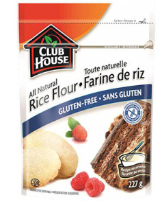 Gluten-free McCormick Club House rice flour baking product