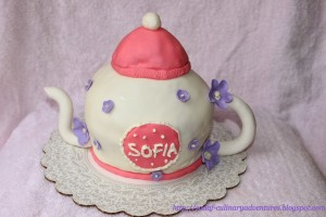 Fondant Teapot Cake using Wilton Sports Ball Cake Pan