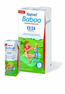 Shelf stable Natrel Baoo milk for toddlers