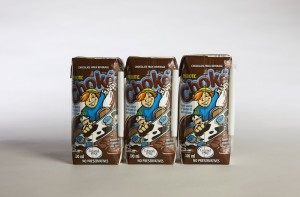 Shlf stable Chokeo chocolate milk in tetra paks