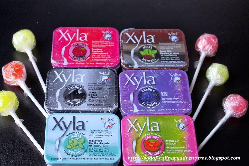 Sugar free Xylitol  Canada mints and lollipops