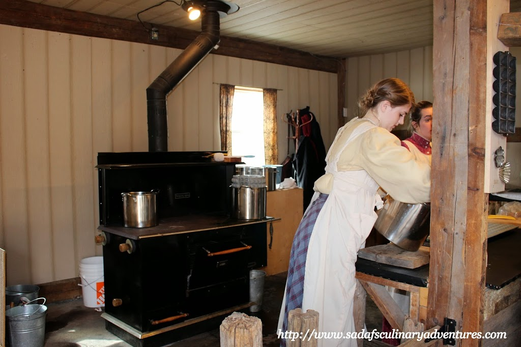 Maple Sugar Being Made in a Victorian style kitchen