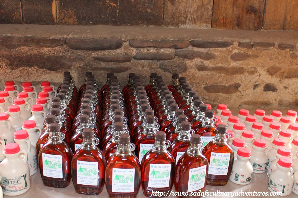 Maple Syrup for sale at Bronte Creek