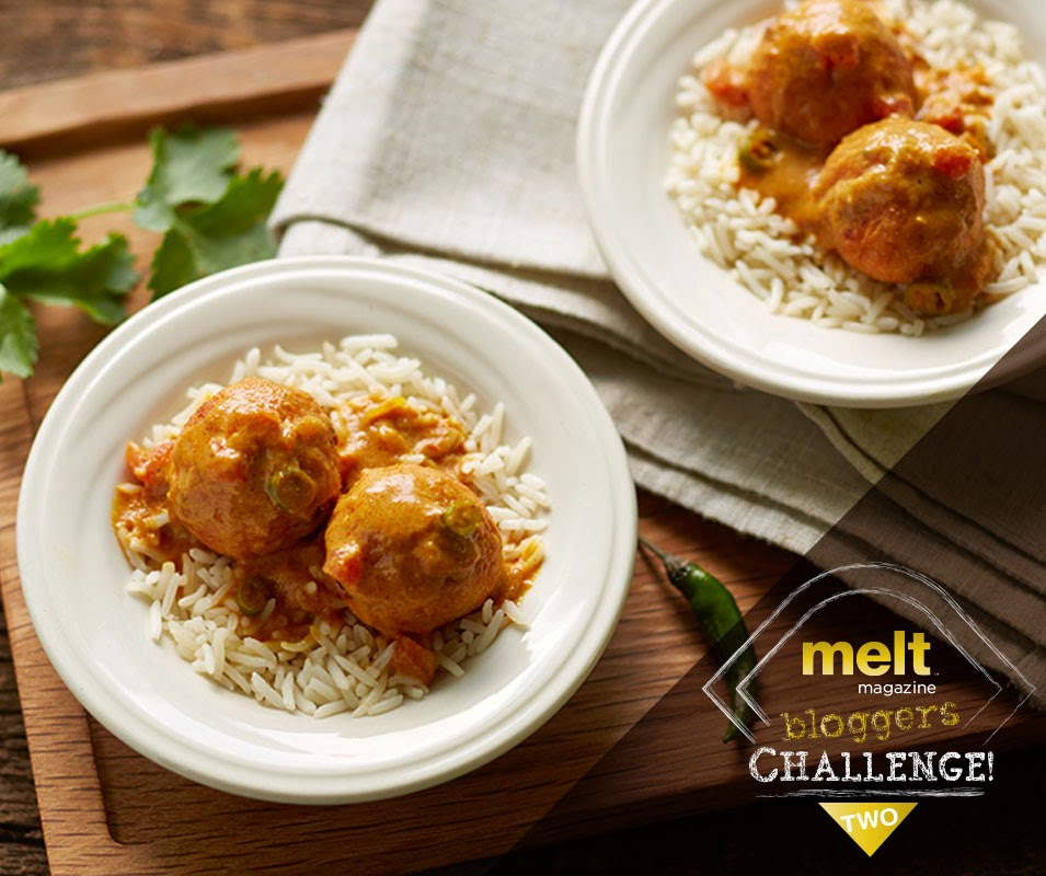 Ricotta Kofta Curry for Melt Magazine Bloggers Challenge