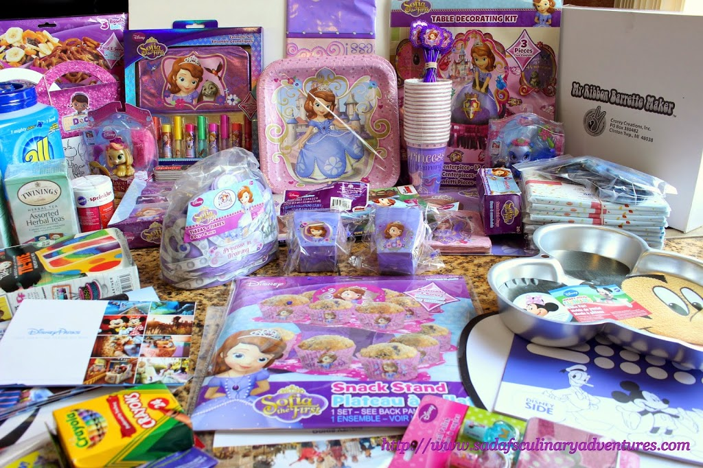Sofia the First themed party supplies