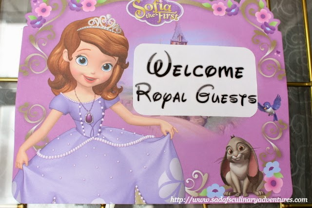 Sofia the First Party Door Sign