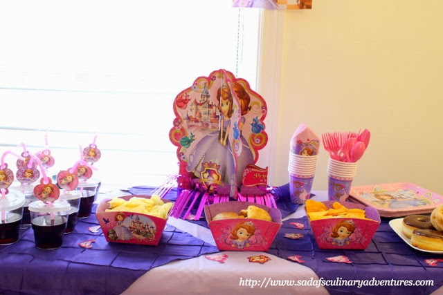 Sofia the First Party Snack Table