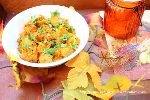 Butternut Squash Curry Sabzi