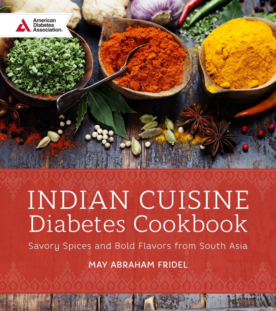 An interview with may abraham fridel author of indian cuisine indian cuisine diabetes cookbook by may fridel forumfinder Choice Image