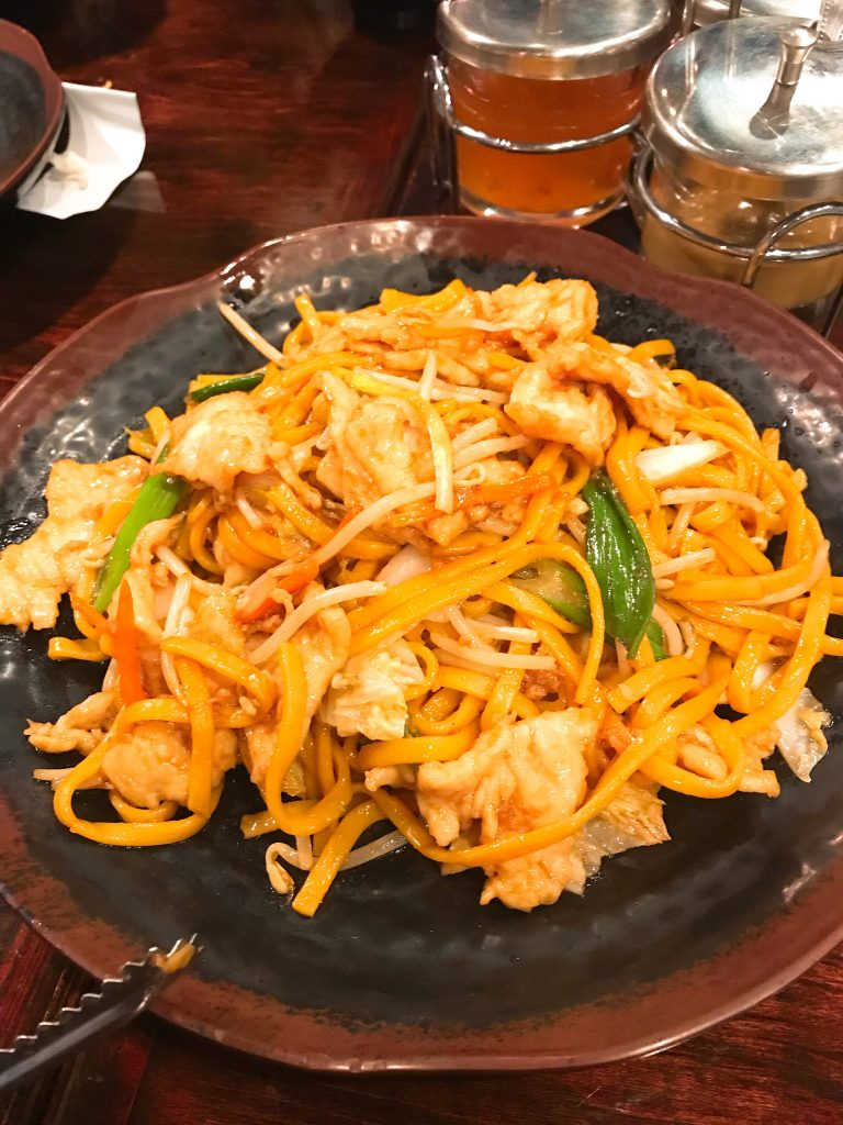 Halal Chicken Lo Mein at Jade Ly Asian Bistro in Sugar Land, TX