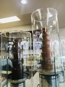 Chocolate Fountain at Busy Boy Cafe Hillcroft