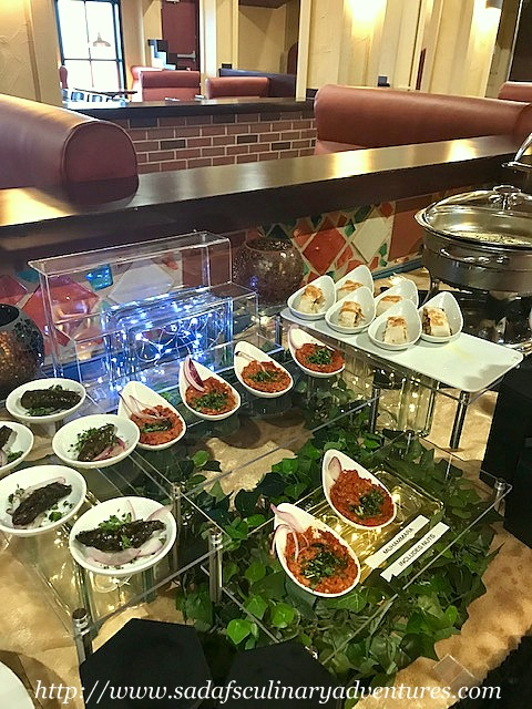 Appetizers at Dervish Tabletop Grill Buffet