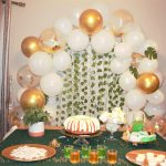 Easy DIY Dessert Table - White, Gold and Green Theme