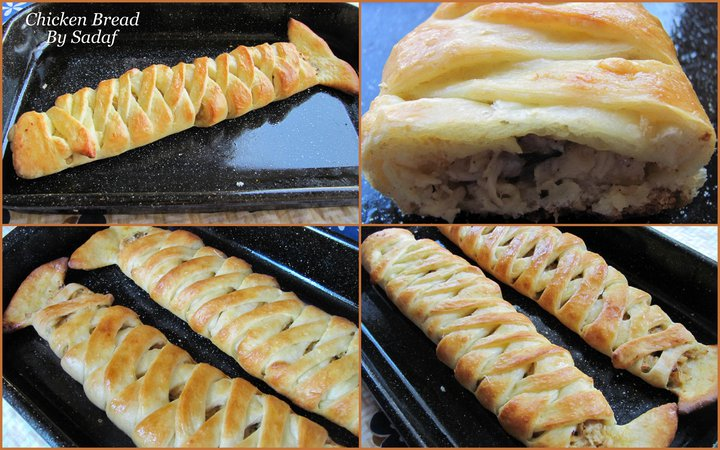 Braided Chicken Bread Step By Step recipe