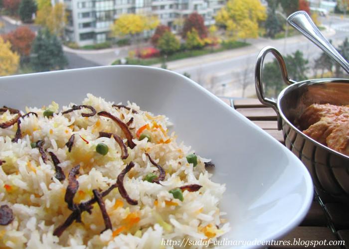 Saffron Peas Pulao recipe for Eid-ul Adha