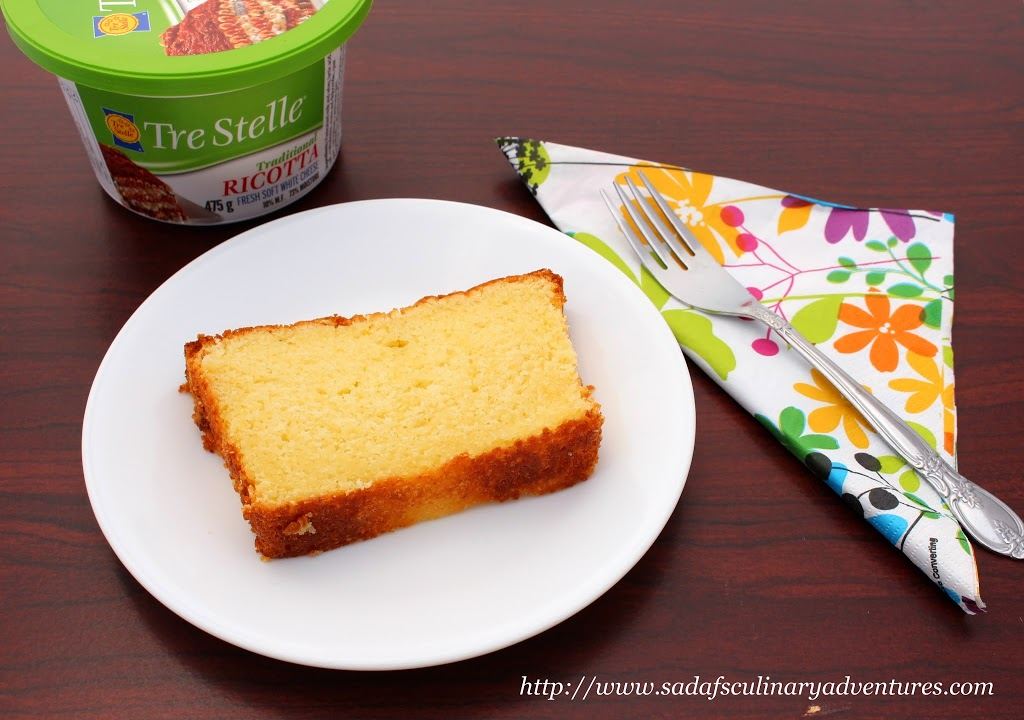 Ricotta Cheese Pound Cake recipe