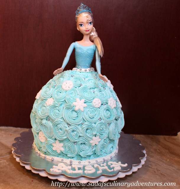 Elsa Doll Cake using Wilton Wonder Mold